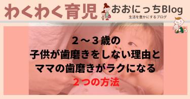2〜3歳の子供が歯磨きをしない理由とママがラクになる2つの方法